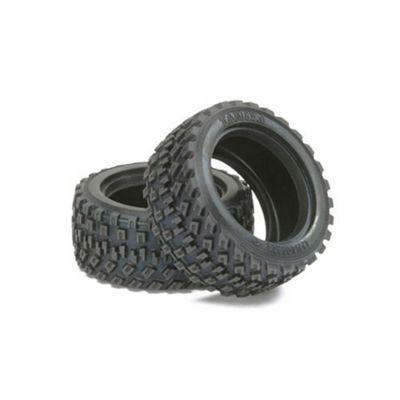 Tamiya 51427 M - Chassis Rally Block Tyres (2Pcs) - Rc Hop-Ups