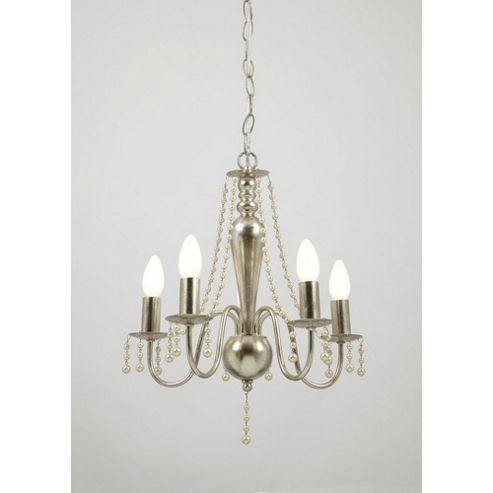 Endon Lighting Five Light Chandelier in Silver Plate