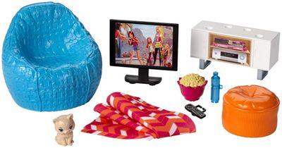 Barbie Indoor Accessory Movie Night Set Doll Children Toy Play