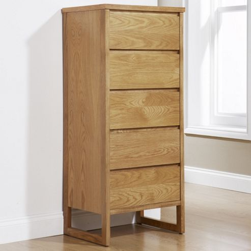 Elements Chloe Cherry 5 Drawer Chest