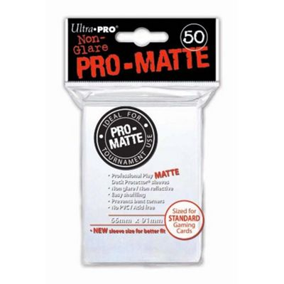 Ultra Pro Sleeves PRO-MATTE Card Game (Matte White) 50 count