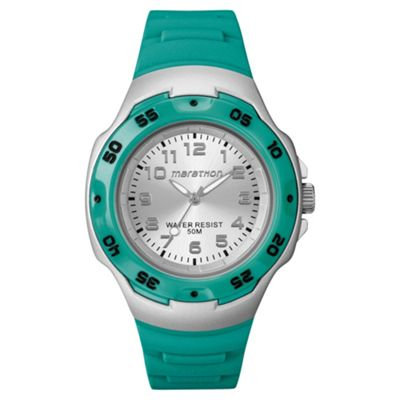 Timex Ladies Marathon Green Watch T5K5814E