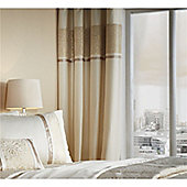 Catherine Lansfield Luxor Jacquard Eyelet Curtains - Gold