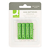 Q-Connect AAA Batteries (Pack of 4)