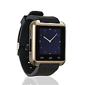 BAS-TEK U8 Bluetooth Smartwatch For iPhone & Android, Touchscreen Display - Gold