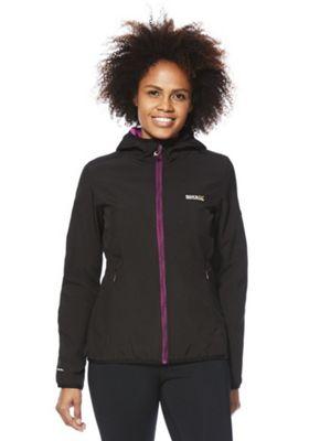 Regatta Arec Stretch Softshell Hooded Jacket 10 Black