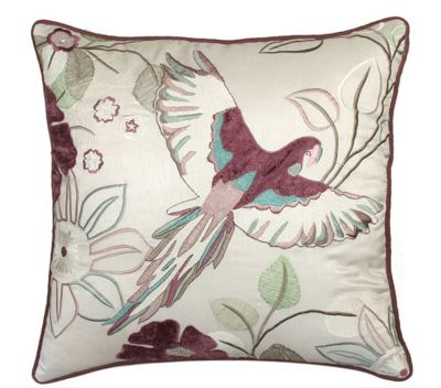 Grey Plum Parrot Cushion Soft & Comfortable For Couch Sofa Bed