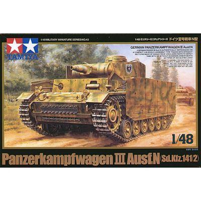 TAMIYA 32543 Pz.Kpwf.III Ausf N 1:48 Military Model Kit