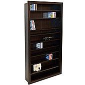 Baltimore - Large Cd / Dvd / Blu-ray / Media Storage Shelves - Walnut