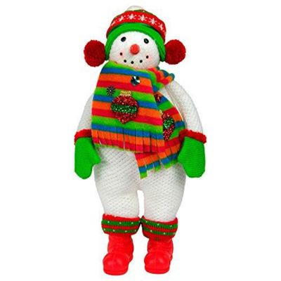 40cm Free-standing Fabric Snowman Christmas Ornament
