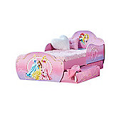 Disney Princess Toddler Bed With Storage Plus Deluxe Foam Mattress