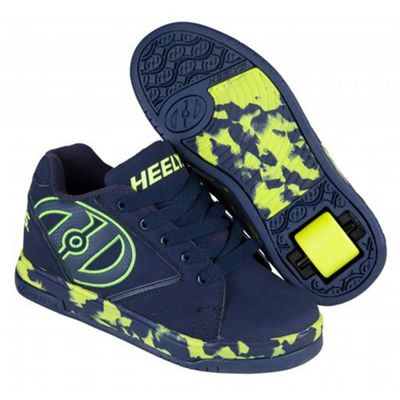Heelys Propel 2.0 Navy/Lime/Confetti Kids Heely Shoe UK 3