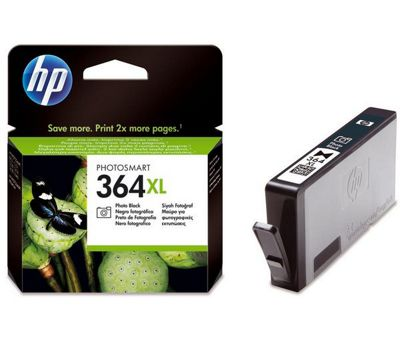 HP No.364XL Photosmart (Black) Ink Cartridge (Yield 290 Photos) with Vivera Ink