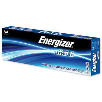 Energizer Ultimate Lithium AA Battery Pack of 10 634352