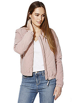 JDY Quilted Bomber Jacket - Rose