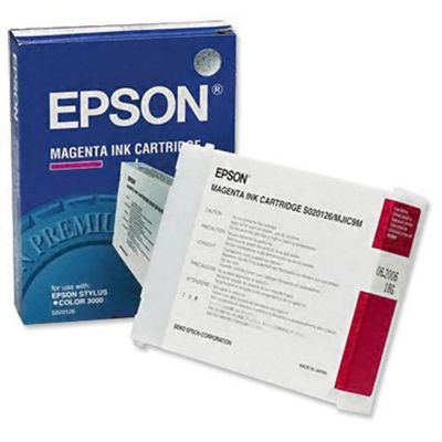 Epson S020126 Ink Cartridge (Magenta) for Stylus Colour 3000 Printer