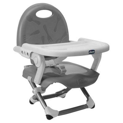 Chicco Pocket Snack Feeding Booster Seat, Dark Grey
