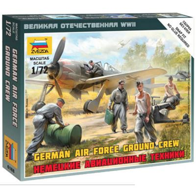 Zvezda 6188 German Luftwaffe Ground Crew 1:72 Snap Fit Model Kit