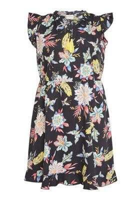 Junarose Floral Ruffle Cap Sleeve Plus Size Dress Multi 26