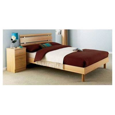 Ashcraft Impressions Double Bed Frame - Beech
