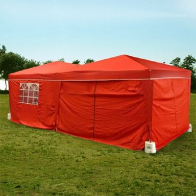 Palm Springs 10' X 20' Pop Up Gazebo With Sides Red