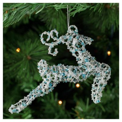Tesco Beaded Reindeer Hanging Decoration