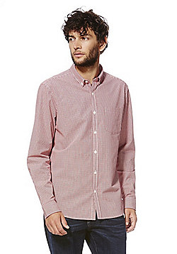F&F Gingham Shirt - Red & White