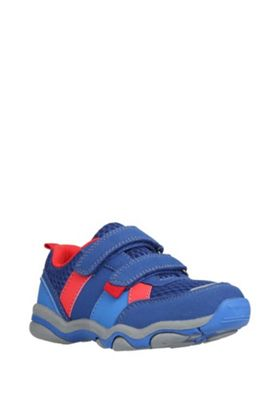 F&F Double Strap Trainers 05 Child Navy