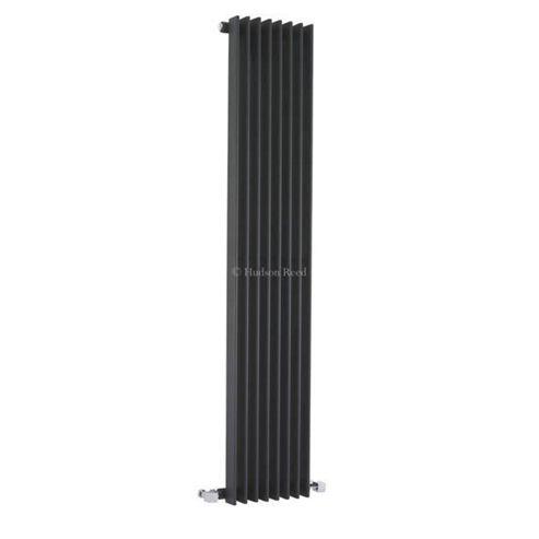 Hudson Reed Fin Vertical Single Panel Designer Radiator 1500mm x 304mm Anthracite
