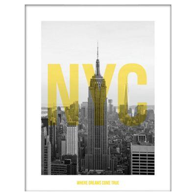 NYC Framed Print, 40x50cm