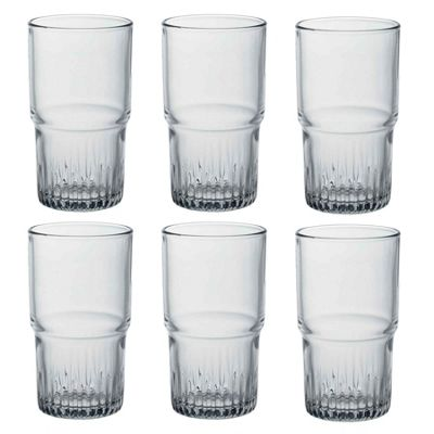 Duralex Empilable Stacking Water / Juice Hiball Glasses - 340ml - x6