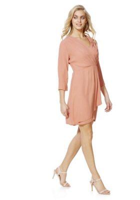 Vila Wrap Front Dress XL Peach