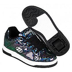 Heelys Spit Black/Hologram Kids Heely Shoe - Black