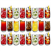 Argon Tableware 'Tallo' Water / Juice Hiball Glasses - Party Pack Of 24 Glasses (16.9oz)