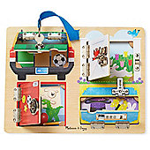Melissa and Doug Wooden Lock and Latch Board