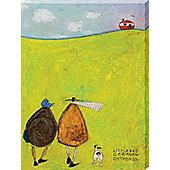 Sam Toft Little Red Caravan On The Hill Canvas Print 30 x 40cm
