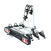 Homcom Bicycle Carrier Rear-mounted 3 Bike Carrier Car Rack Rear Tow Bar
