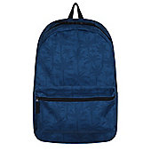 Indigo Blue Palm Graphic Backpack