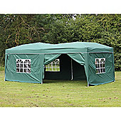Palm Springs 10' X 20' Pop Up Gazebo With Sides Green
