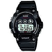 Casio Sports Unisex Rubber Chronograph Watch W-214HC-1AVEF