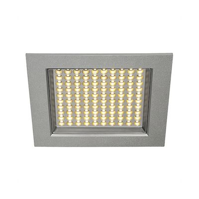 led Panel Recessed Downlight Ceiling Light Square Silvergrey