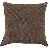 Mason Grey Chenille Spot Chocolate Cushion Cover - 43x43cm