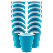 Turquoise - 473ml Plastic Party Cups - 50 Pack