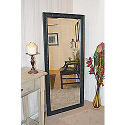 Large Antique Design Full Length Black Wall Mirror 5Ft3 X 2Ft5 160Cm 73Cm New