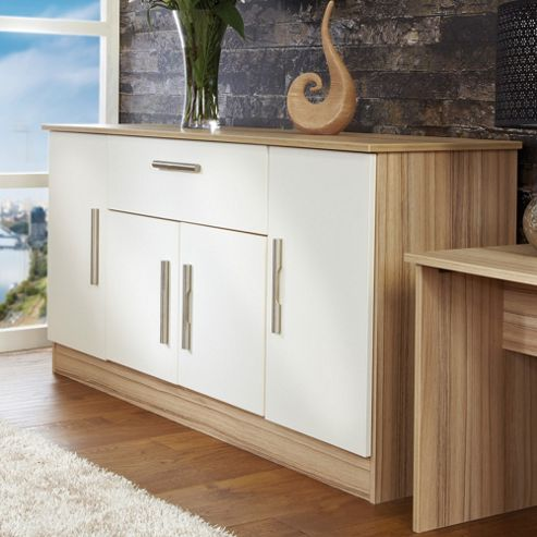 Welcome Furniture Living Room Wide 4 Door / 1Drawer Unit - Vanilla/Cocobola