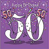 Happy Birthday, 50 Today Female Greetings Card