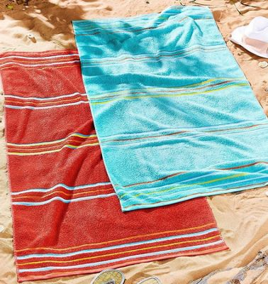 Blue and Red Beach Towels, 75 x 150 cm - Pack of 2