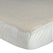 Homescapes Deep Fitted Fleece Single Underblanket