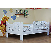 Camila Toddler Bed White/Pocket Sprung Mattress/Quilted Topper+Drawer White