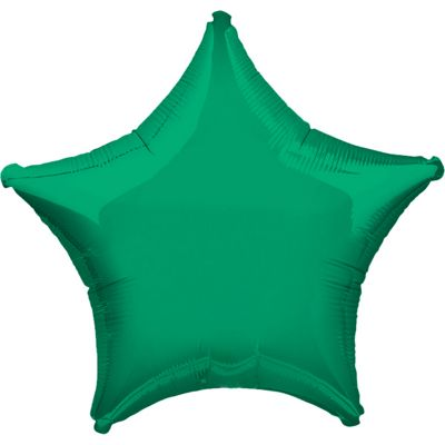 Green Star Balloon - 19 inch Foil